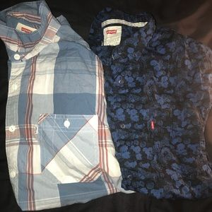 2 button-up Levi's t-shirts barely worn